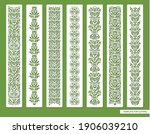 set of decorative seamless... | Shutterstock .eps vector #1906039210