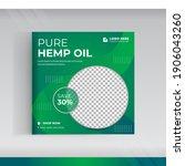hemp product social media post... | Shutterstock .eps vector #1906043260