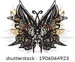 ornamental unusual butterfly... | Shutterstock .eps vector #1906064923