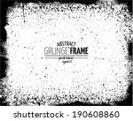 grunge frame set. vector... | Shutterstock .eps vector #190608860