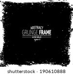 grunge frame set. vector... | Shutterstock .eps vector #190610888