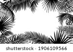 Banner Template With Tropical...