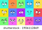 cartoon square faces. face...   Shutterstock .eps vector #1906112869