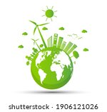 ecology and environmental... | Shutterstock .eps vector #1906121026