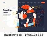 business topics   development ... | Shutterstock .eps vector #1906136983