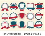 collection of flat shields... | Shutterstock . vector #1906144153