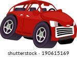 funny angry cartoon car... | Shutterstock .eps vector #190615169