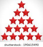 red stars   red stars in...   Shutterstock .eps vector #190615490