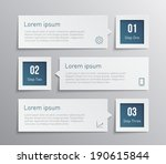 set of paper banners   tags for ... | Shutterstock .eps vector #190615844
