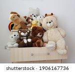 Teddy Bears Sitting On Dressers