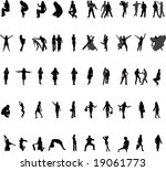silhouettes. | Shutterstock . vector #19061773