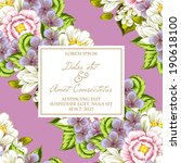 wedding invitation cards with... | Shutterstock . vector #190618100
