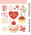 cute valentine's day elements... | Shutterstock .eps vector #1906196260