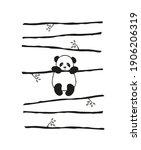 vector pattern cute little... | Shutterstock .eps vector #1906206319