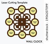 photo wall clock laser cutting... | Shutterstock .eps vector #1906207099