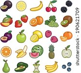 fruit icon collection   vector... | Shutterstock .eps vector #190621709