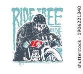 skull biker horror quote... | Shutterstock .eps vector #1906221340