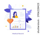 tablet with patient's photo ... | Shutterstock .eps vector #1906228423