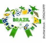 brazil background. | Shutterstock .eps vector #190624499