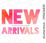 vector modern typography banner ... | Shutterstock .eps vector #190626830