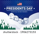 usa presidents day background...   Shutterstock .eps vector #1906273153