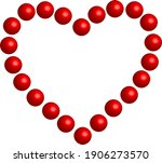 3 d red heart   outline drawing ... | Shutterstock .eps vector #1906273570