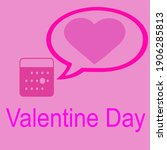calendar for notifications of... | Shutterstock . vector #1906285813