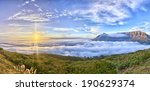 cape town's table mountain ... | Shutterstock . vector #190629374