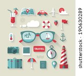 travel and tourism flat icons... | Shutterstock .eps vector #190630289