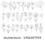 set of vector doodle hand drawn ...   Shutterstock .eps vector #1906307959