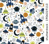 Space Seamless Pattern  Perfect ...