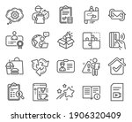 technology icons set. included... | Shutterstock .eps vector #1906320409
