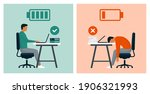 work efficiency and... | Shutterstock .eps vector #1906321993