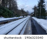 Snowy Station Platform At...