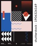 bauhaus inspired graphic design ... | Shutterstock .eps vector #1906326169