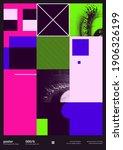 digital collage of vector... | Shutterstock .eps vector #1906326199
