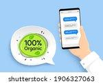 organic food banner. hand...