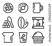 set  colletion of coffe shop ... | Shutterstock .eps vector #1906332109