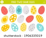 find two same eggs. easter... | Shutterstock .eps vector #1906335019