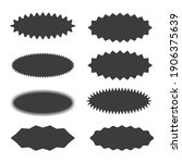 starburst sticker set  ... | Shutterstock .eps vector #1906375639