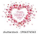valentine's day greeting card... | Shutterstock .eps vector #1906376563