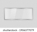 glass plate in rectangle frame...   Shutterstock .eps vector #1906377079