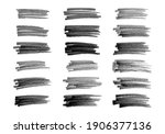 scribble with a black marker.... | Shutterstock .eps vector #1906377136