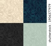 topography patterns. seamless...   Shutterstock .eps vector #1906377979