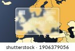 vector. frosted translucent... | Shutterstock .eps vector #1906379056