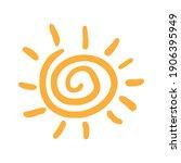 sun hand drawn symbol. sun icon ... | Shutterstock .eps vector #1906395949