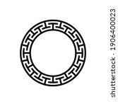black and white circular frame... | Shutterstock .eps vector #1906400023