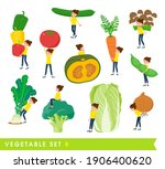 a set of women and vegetables.... | Shutterstock .eps vector #1906400620