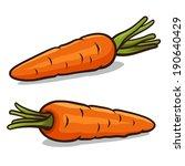 carrot vector illustration... | Shutterstock .eps vector #190640429