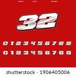 vector racing number designs...   Shutterstock .eps vector #1906405006